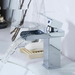 Tap Mixer Faucets Waterfall Hot Cold Water Spout Kitchen Bathrooms Sinks Faucet