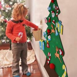 Aytai DIY Felt Christmas Tree Set with Ornaments for Kids Xmas Gifts New Year