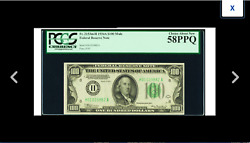 Beautiful St. Louis Fr. 2153-h 100 1934a Mule Fed Pcgs Choice About New 58ppq =