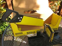 Vintage Stanley 1979 Mitre Box And Saw 19-614 In Original Box,19-614 Made Usa