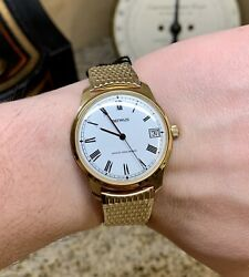Wqqw Nos Vintage Mens Gold Benrus Manual Wind Swiss Watch With Original Tags