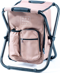 Backpack Cooler Chair Folding Stool Backpack Ultralight Compact Portable $57.35
