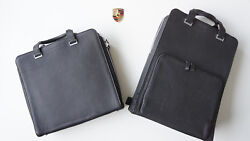 Porsche Design Skyline Bag Briefbag Backpack Files Black Set -2 Piece $939.62