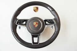 Porsche 991 Panamera 958 Cayenne Cover Airbag Steering Leather Carbon Achatgra