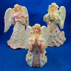 Lenox A King Is Born 3 Piece Angel Set By Parvanneh Holloway - Pristine