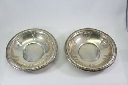 Wallace Mozart Sterling Silver 6 Inch Serving Dish Platter Set Of 2 100771