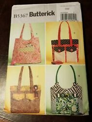 Patterns Butterick # B5367 Bags Handbags Totes Open Uncut With Instructions $5.99