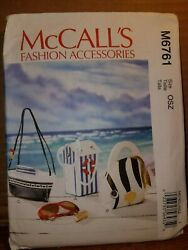 Patterns McCall#x27;s # M6761 Bags Handbags Totes Open Uncut With Instructions $5.99