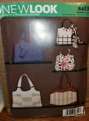 Patterns New Look # 6453 Bags Handbags Totes Open Uncut With Instructions $5.99