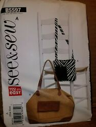 Patterns See amp; Sew # B5597 Bags Handbags Totes Open Uncut amp; Instructions $5.99