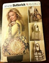 Patterns Butterick # B5438 Bags Handbags Totes Open Uncut With Instructions $5.99