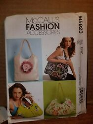 Patterns McCall#x27;s # M5823 Bags Handbags Totes Open Uncut With Instructions $5.99