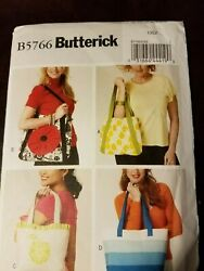 Patterns Butterick # B5766 Bags Handbags Totes Open Uncut With Instructions $5.99