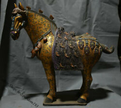 20 Chinese Old Tang Sancai Porcelain Pottery Painted Dynasty Horses Sculpture