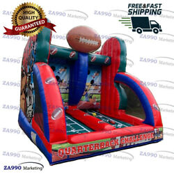 13x10ft Inflatable American Football Toss Carnival Sport Game With Air Blower