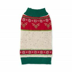 Petco Holiday Tails Fairest Isle Dog Christmas Sweater