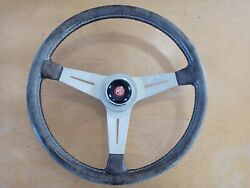 Vintage Nardi Torino Steering Wheel W/ Mg Adapter And Horn Center Piece