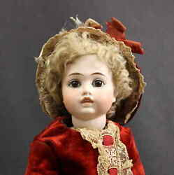 Splendid Antique German Closed Mouth Bisque Doll With And039bruand039 Look