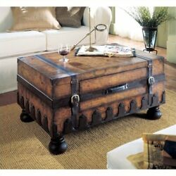 Butler Specialty Heritage Wood Trunk Coffee Table