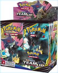 Pokemon Tcg Sun And Moon 9 Team Up Booster Box Sealed 36 Packs