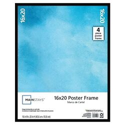 Large Basic Poster amp; Picture Frame Black Art Photo Rectangle 16quot; x 20quot; NEW