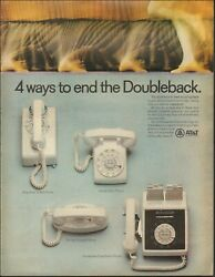 1968 Vintage Ad For Atandt Retro Phones 4 Styles Photo Wall Phone White   051920