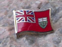 Ontario Province Canada Canadian Flag Official Tie Pin Brooch Pin Badge