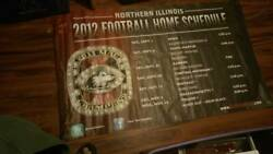 2012 Niu Football Official Athletics Home Schedule Banner