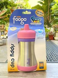 Thermos Foogo 10oz. Insulated Stainless Steel Sippy Cup Pink/purple