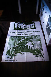 Frogs Horror Ray Milland 4x6 Ft French Grande Original Movie Poster 1972