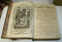 1810 - 1811 Huge Antique Holy Bible 15 1/2 Tall  Illustrated