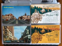 [265] Stockton California Postcards ++ And Gold [all Postally Used]