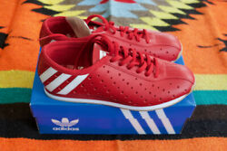 Adidas Eddy Merckx Cycling Shoes Nos Red Leather Touring Track