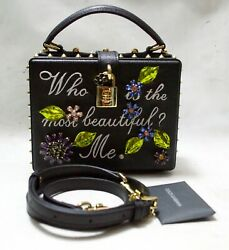 Dolce Gabbana Box Embellished Leather Shoulder Bag Who Is The Most Beautiful M