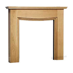 Fireplace Fire Stepped Beam Gas Electric White Painted Modern Oak - Surround