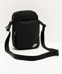 Nike Heritage 2.0 Black Shoulder Bag Crossbody Travel Small Items Bag BA5898 $29.99