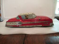 Vintage Tin Litho Family Car By Marx 20 Long From 1950s