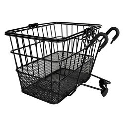 Sunlite Wire Steel Mesh Front Bicycle Basket Black Carrier Colorful Shopping