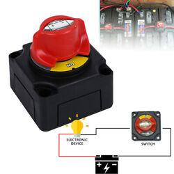 Battery Isolator Disconnect Switch Power Cut Off/on For Marine Boat 12-48v 300a