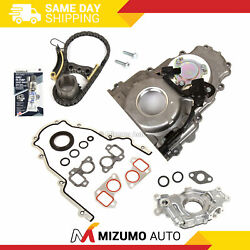 Timing Chain Kit Timing Cover Oil Pump Fit 07-16 Buick Cadillac Gmc 5.3 6.0 6.2