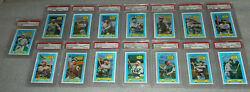 Kellog's 1972 All Time Baseball Greats Complete Set All 15 Cards Psa 9 Mint