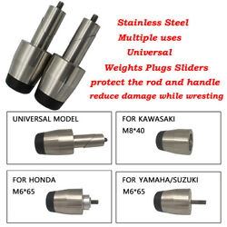 Universal Motorcycles Handle Bar End Grip Heavy Weight Vibration Reducing Cap