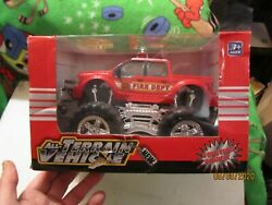 New Fire Dept All Terrain Vehicle Plastic Friction Power Toy Made In China