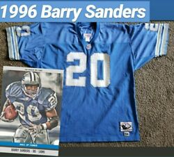 Vintage Authentic 1996 Barry Sanders Lions Jersey Mitchell Ness 52 Xxl Rare Nfl