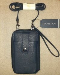 Nautica Women's Navy Blue Phone Crossbody Wallet BRAND NEW WITH TAGS $16.97