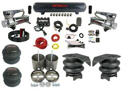 Complete 3/8 Air Suspension Kit Evolve Manifold Switch 580 Chrome 99-06 Gm 1500