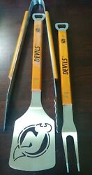 3 Piece Sport Bbq Set, Grilling Tools, Stainless Steel Tailgate Nfl Mlb Nhl Nba