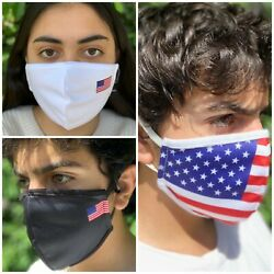 Washable Face Mask Reusable Designer American Flag Cotton Breathable Unisex
