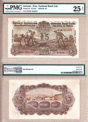 1931 Andpound5 Ploughman National Bank Of Ireland Limited Northern Ireland Pmg Vf25