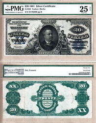 1891 20 United States Silver Certificate With Danny Manning Fr.322. Pmg Vf25